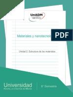 Unidad2Estructuradelosmateriales