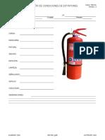 Ficha de Inspección de Los Extintores