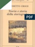 Resumen de Benedetto Croce -Teoría e Historia de La Historiografía