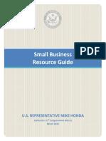 Congressman Honda's Small Business Resource Guide