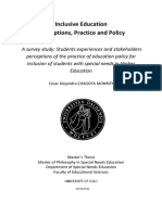 Inclusive Education Perception Practice and Policy