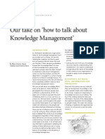 Our Take on How to Talk About Knowledge Management