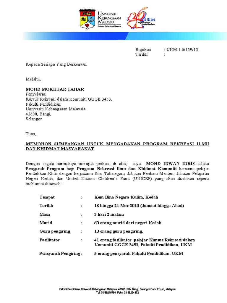 Contoh Surat Surat Minta Sumbangan