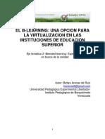 El b Learning Una Opcion Para La Virtualizacion en Las Instituciones de Educacion Superior