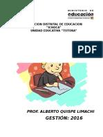 Cuaderno Pedagógico 2016 Inicial