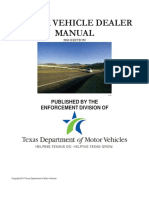 MV Dealer Manual