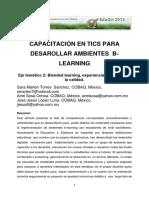 Capacitacion en Tics Para Desarrollar Ambientes Blearning