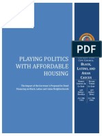 Playing Politics With Affordable Housing:The Impact of the Governor's Proposal on Bond Financing on Black, Latino & Asian Neighborhoods
