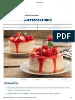 Cheesecake Frío