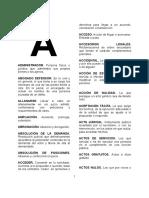 Vocabulario de Derecho Procesal Civiil y Mercantil de DANIEL MATTA