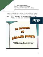 Semana Santa Infantil en Ancuya