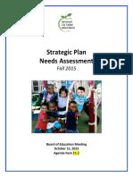 SCUSD Strategic Plan Needs Assessment