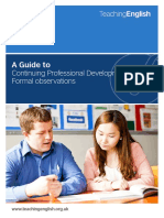Guide to Formal ESOL Classroom Observation