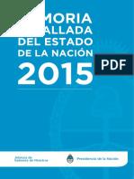 Memoria Detallada del Estado de la Nación 2015