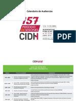 CIDH Calendario 157 Audiencias Es