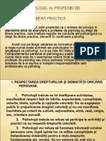 CODUL DEONTOLOGIC AL PROFESIEI DE ps.ppt