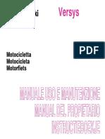 Manual Del Propietario Versys 650