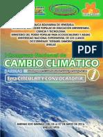 1ra Circular i Congreso Nacional Sobre Cambio Climático. 2016