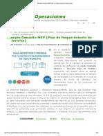 Ejemplo Resuelto MRP (Plan de Requerimiento de Materiales)