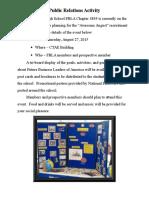 fphs public relations activity