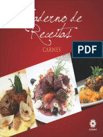 Caderno Receitas Carne