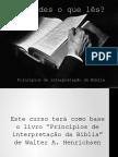 Entendes o Que Les_Principios de Interpretação Da Bíblia