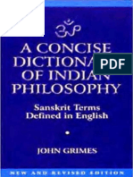 Dictionary of Indian Philosophy Sanskrit Terms Defined in English 400pg