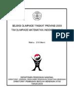 Soal Olimpiade Matematika Tk Provinsi 2009