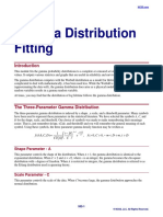 Gamma Distribution Fitting