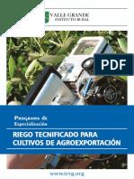 Brochure Especialización Riego Tecnificado 2013