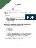 dietary analysis and critique - eportfolio