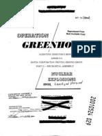 Operation Greenhouse. Scientific Director's Report Annex 9.2