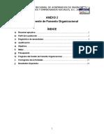 ANEXO 2 Formato de Fomento Organizacional