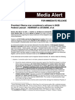 President Obama now considered a witness in $42B Federal Lawsuit - HARIHAR vs US BANK, et al.