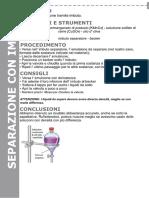 imbuto separatore - scheda di laboratorio