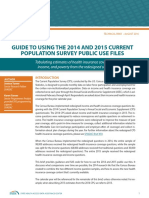 Guide to Using the 2014 and 2015 Current Population Survey Public Use Files
