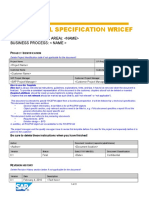 Functional Specification Template WRICEF