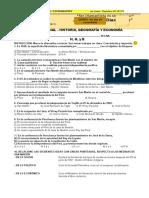 Examen Mensual 3er Año Historia y Geografia