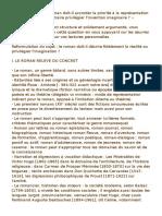 DISSERTATION « Le Roman Doit-il Accorder La Priorité à La Représentation Du Réel Ou Tout Au Contraire Privilégier l'Invention Imaginaire