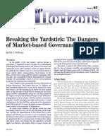 Breaking the Yardstick - The Dangers of Market-Based Governance