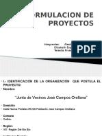 Formulacion de Proyectos Presentacion