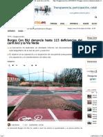 Burgos Conecta. Burgos Con Bici denuncia hasta 115 deficiencias del carril bici y la Vía Verde.BurgosC)
