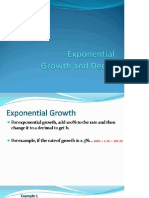 Exp Growth and Decay