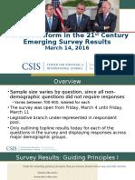 Defense Reform Conference-Survey Results Final March 13, 2016