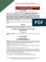 Ley Contra La Delincuencia Organizada Para El Distrito Federal