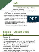 HR Exam1 Info