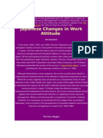 Japanese Changes in Work Attitude