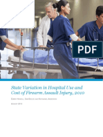 State Variation in Hospital Use and Cost of Firearms Assaults