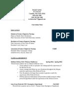 rachel corbin fnp - curriculum vitae
