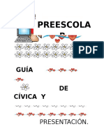 Guía Cívica y Urbanidad Preescolar.